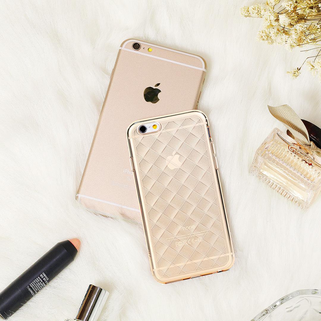 iPhone 6 6s Plus手機殼5.5吋Knit璀璨編織璀璨粉茶WaKase