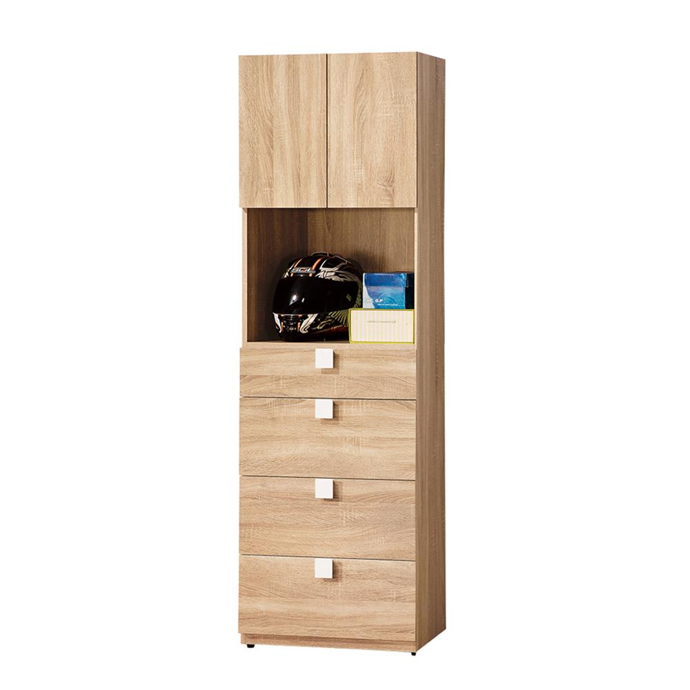【森可家居】多莉絲2尺四抽收納櫃 (單只-編號1) 6ZX767-3  木紋質感 北歐風 無印風 客廳 廚房 衣物