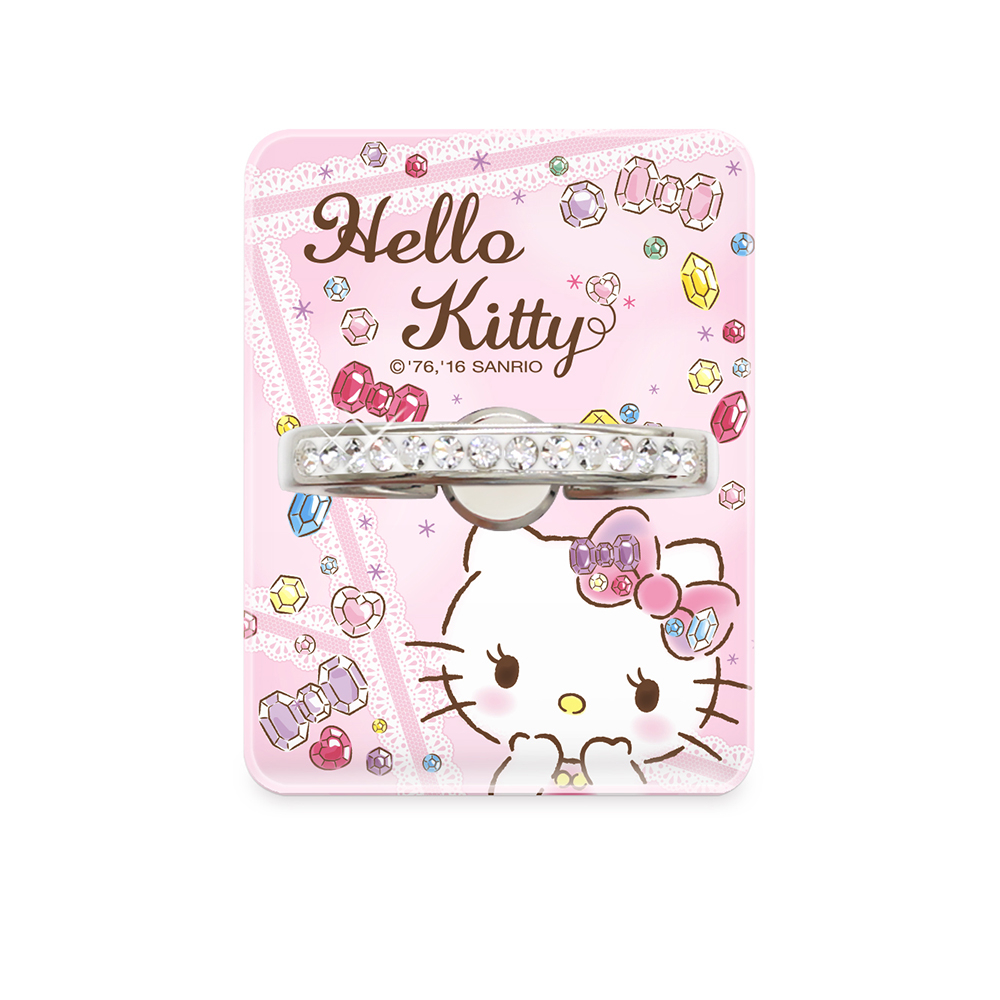 88柑仔店--GARMMA Hello Kitty水鑽指環支架 –復古款 閃亮款