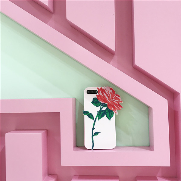 iPhone手機殼韓國少女心玫瑰花浮雕矽膠軟殼蘋果iPhone7 iPhone6