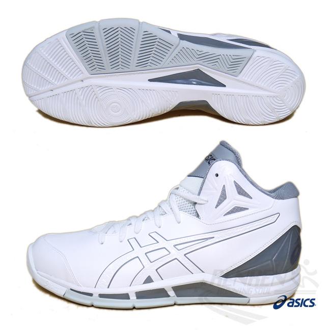 ASICS亞瑟士男藍球鞋白GEL-TRIFORCE 2-wide寬楦抓地.緩衝.包覆藍球鞋款TBF327-0101胖媛的店
