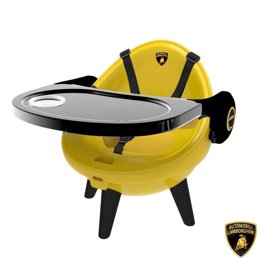 【Lamborghini藍寶堅尼】全台獨家 兒童餐盤椅(可拆卸餐盤) 餐桌椅 兒童靠背椅 幼兒椅