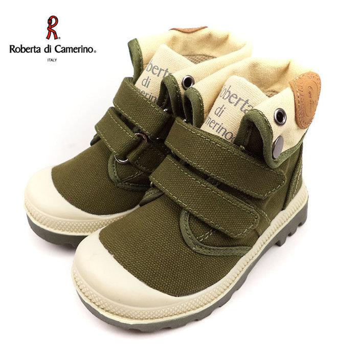 童靴義大利諾貝達Roberta英倫軍靴風中低統兩用靴綠25-34號~EMMA商城