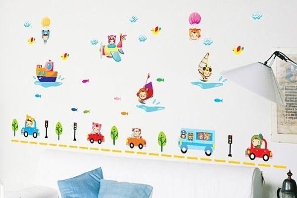 創意可移動壁貼牆貼背景貼磁磚貼兒童房佈置設計壁貼卡通娃娃YP1979 BO雜貨AM832
