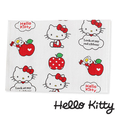 Sanrio三麗鷗Hello Kitty系列-凱蒂貓與點點紅蘋果紗蘿童巾