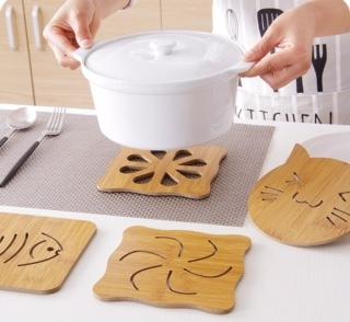 木質卡通隔熱墊餐桌墊防滑鍋墊 創意可愛茶杯墊子碗墊杯墊 可挑款