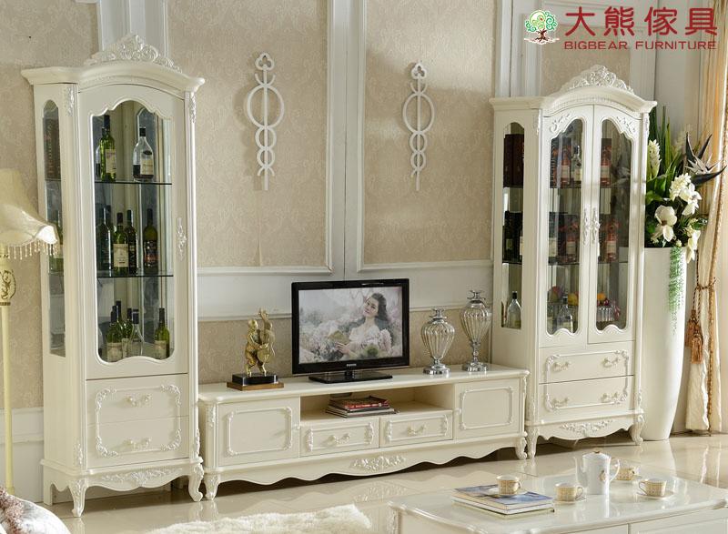 【大熊傢俱】JIN K02 法式酒櫃 雙門酒櫃 單門酒櫃 儲物櫃 收納櫃 玻璃酒櫃 歐式 電視櫃 CD櫃