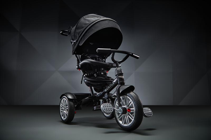 【愛吾兒】Bentley 賓利 三輪嬰幼兒手推車-黑色 原廠授權 Bentley Tricycle
