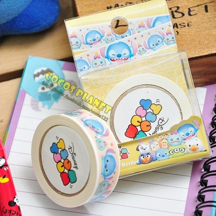 迪士尼紙膠帶 疊疊樂 TUSM TUSM 史迪奇 彩色紙膠帶 膠帶 彩色膠帶 COCOS DT040I款