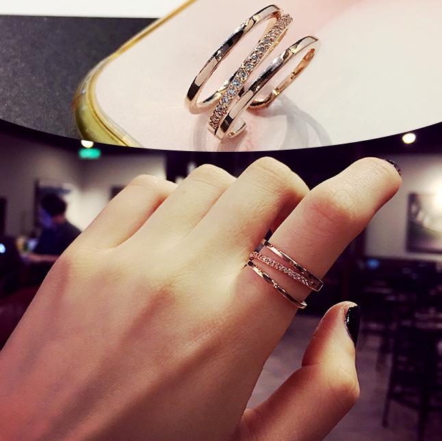 个性戒指食指戒指女日韓學生指環潮人尾戒大頑家