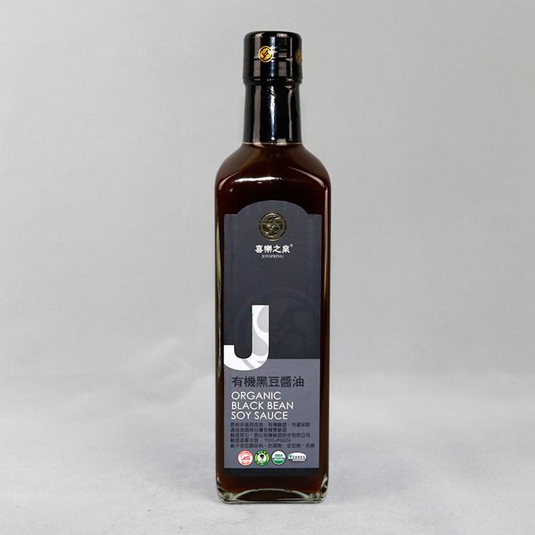 喜樂之泉有機黑豆醬油500ml/瓶