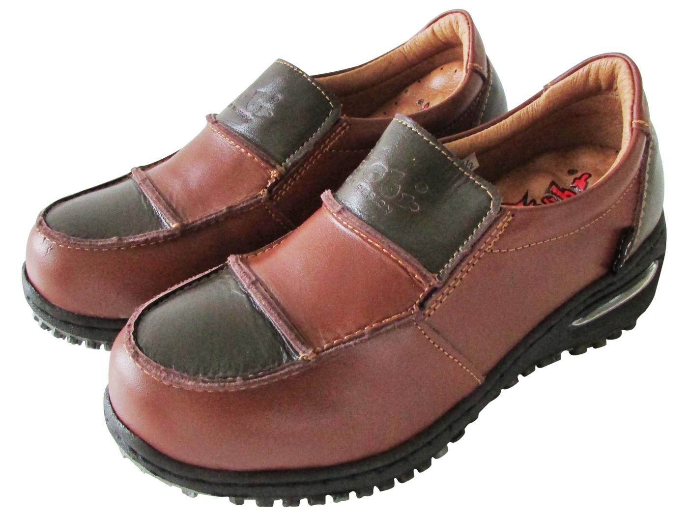 雙惠鞋櫃路豹Zobr日系復古學院風女牛皮休閒鞋台灣製造BB81A棕咖