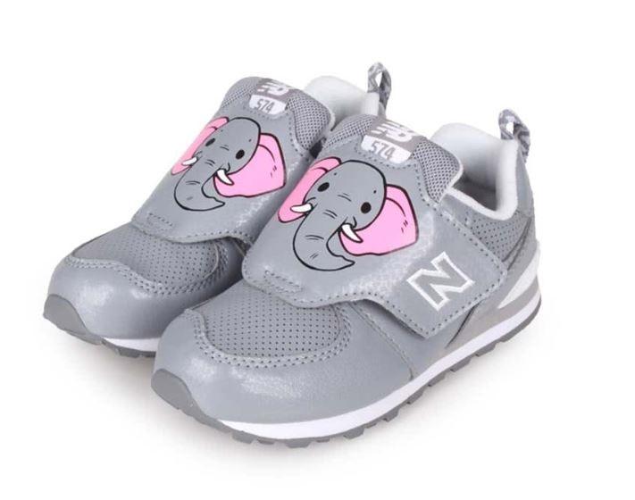 New Balance 男女灰色大象小童鞋-NO.IV574ZOE