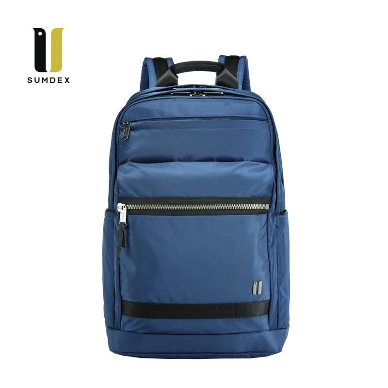 SUMDEX 15.6吋10吋平板商務後背包NON-795BU藍色
