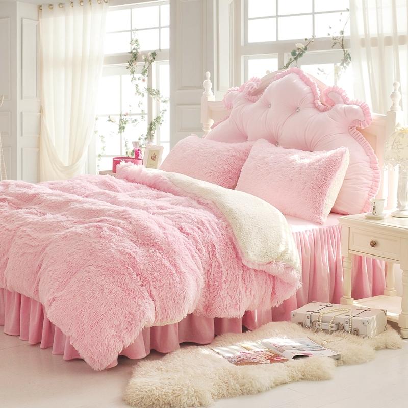 法蘭絨床罩組淺粉羊羔絨5尺加絨雙人床包法蘭絨床組兩用被毯ikea訂製刷毛佛你企業