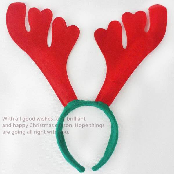 聖誕節耶誕節鹿角髮圈鹿角髮夾麋鹿髮箍麋鹿麋鹿角紅色麋鹿髮箍頭飾塔克