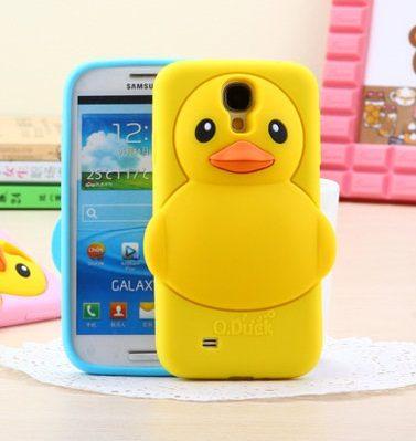 世明國際三星S4 i9500立體小黃鴨黃色小鴨手機保護套軟殼手機套矽膠