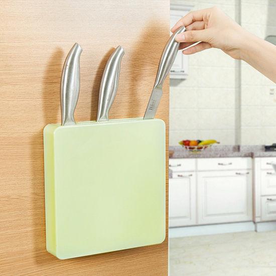 生活家精品W53多功能隱形刀架廚房收納剪刀工具儲存菜刀水果刀黏貼通風瀝乾