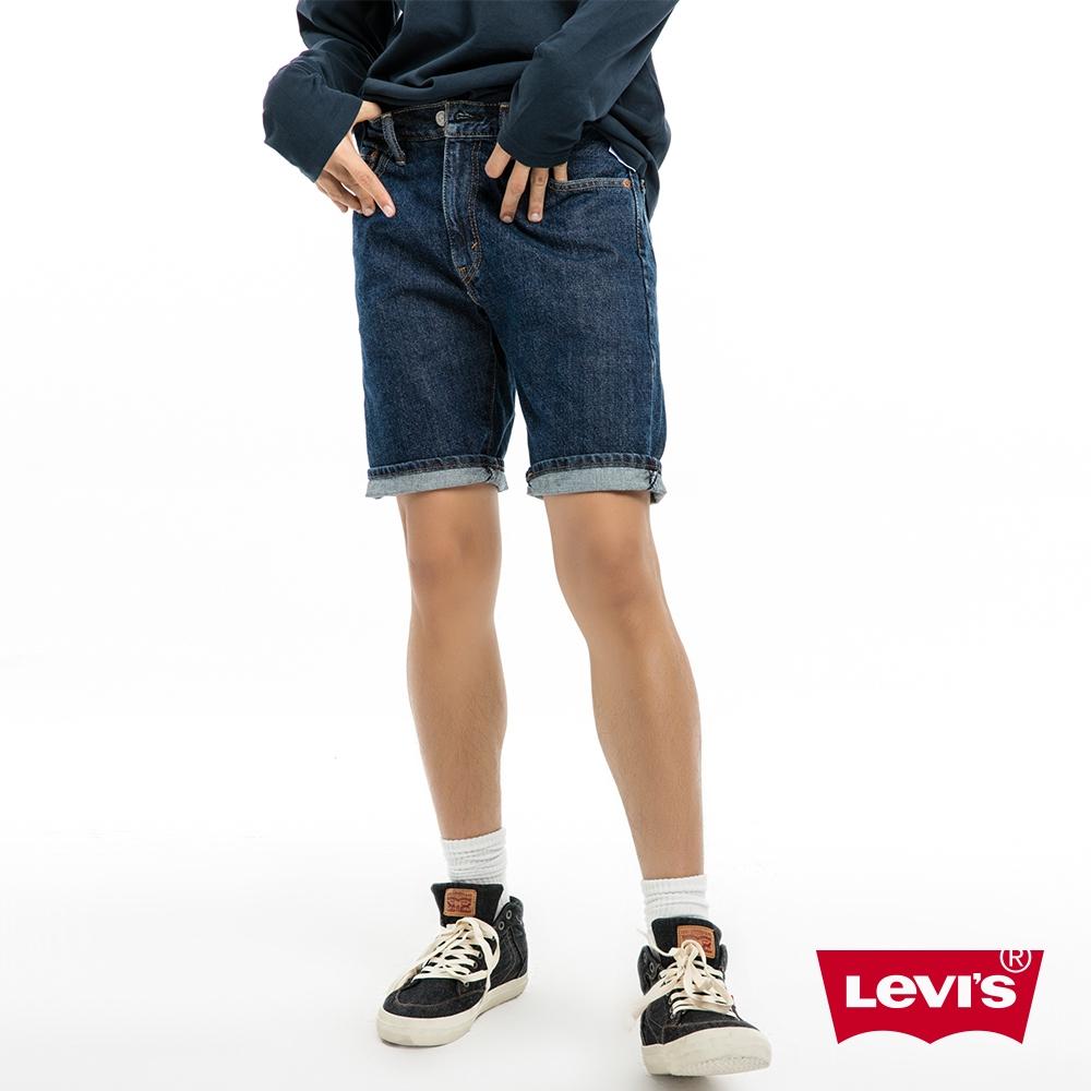 505中腰直筒牛仔短褲經典深藍Levis