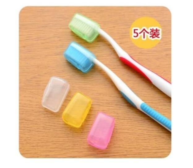 [只有今天 下殺1元] 出國旅遊必備!戶外旅行抗菌潔淨5色牙刷套(5入) 牙刷 套 盒 防菌 生活 小物
