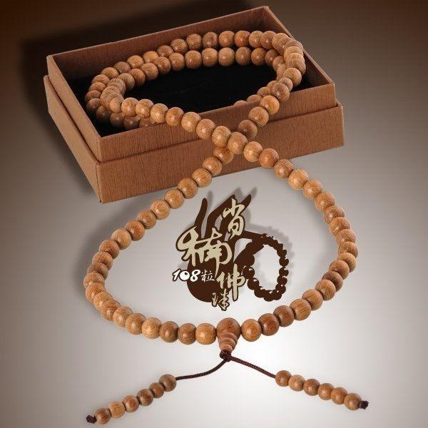 肖楠108粒佛珠(8mm)|又稱念珠,選用木質肖楠108粒手珠,又可當手串開運配飾用