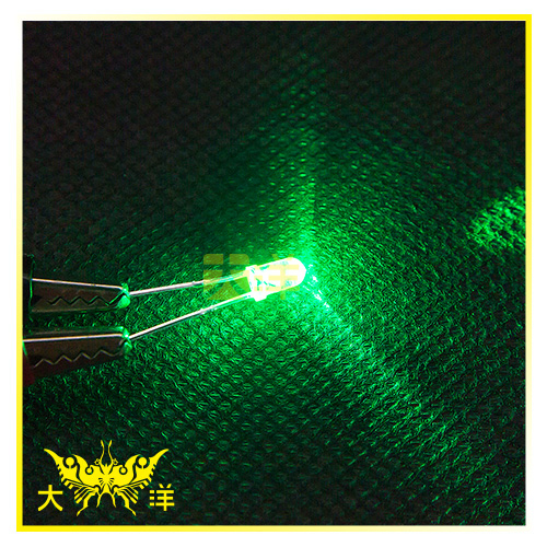 ◤大洋國際電子◢ 3mm透明殼 綠光 高亮度LED (100PCS入) 0626-G-A LED 二極管