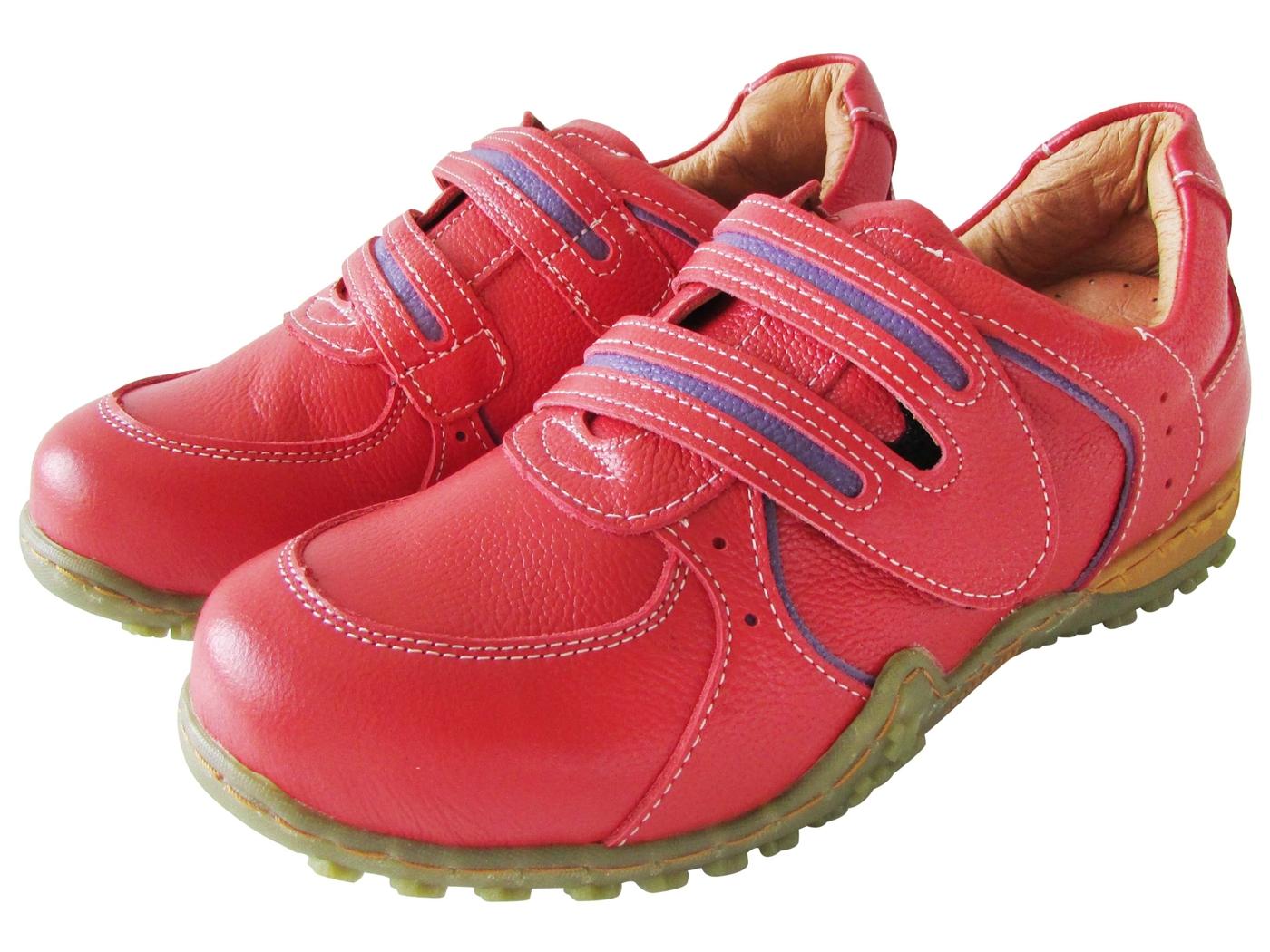 雙惠鞋櫃路豹Zobr雙配色基本款女牛皮休閒鞋台灣製造B5706紅