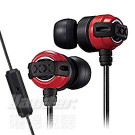 曜德送收納盒JVC HA-FX11XM紅黑入耳式耳機重低音系列線控麥克風免運