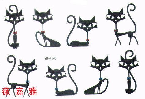 薇嘉雅  貓咪 紋身貼紙 K166