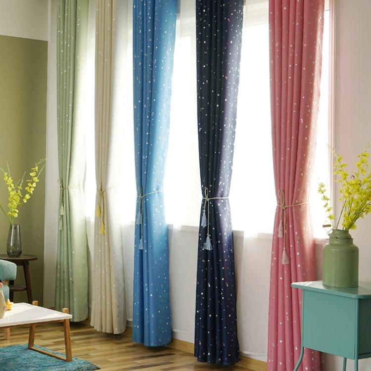 簡約現代全遮光布窗簾成品臥室客廳落地窗飄窗簾遮光