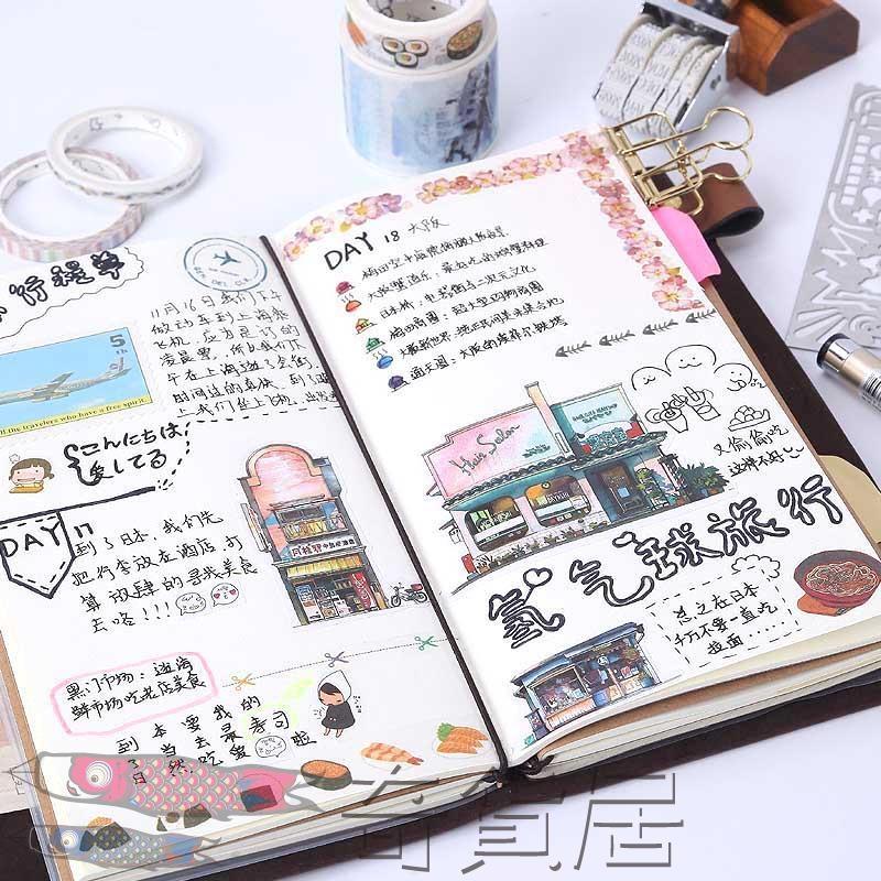 旅行手帳本復古隨身筆記本