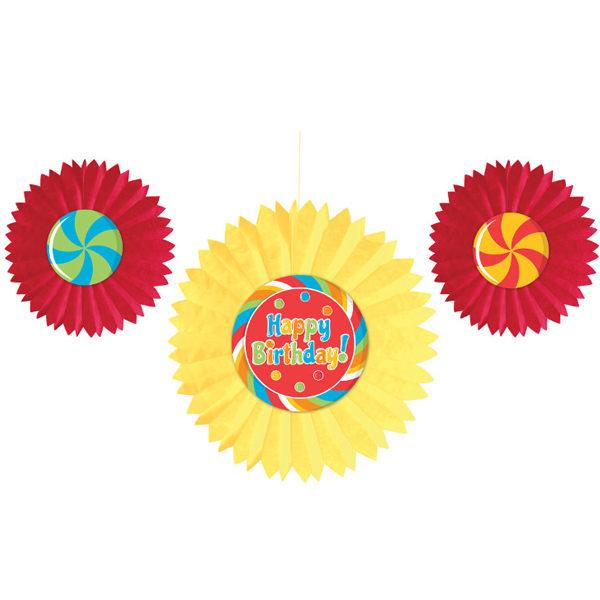 扇形吊飾3入-糖果派對