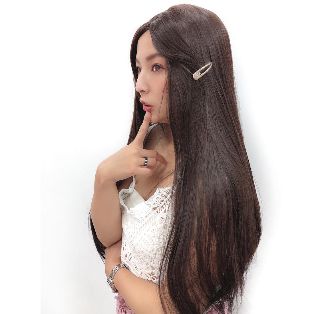 全頂假髮 阿拉丁公主髮型 無瀏海 長直髮 C8222 魔髮樂