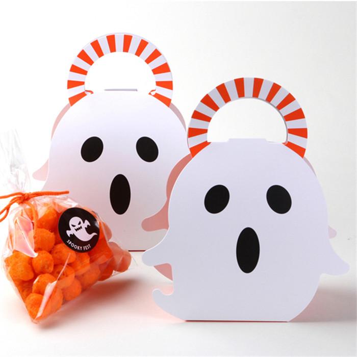 萬聖節 幽靈造型盒 糖果包裝盒 手提紙盒 禮品包裝 鬼節禮物盒 餅乾袋 蛋糕盒 西點盒 牛軋糖 紙盒