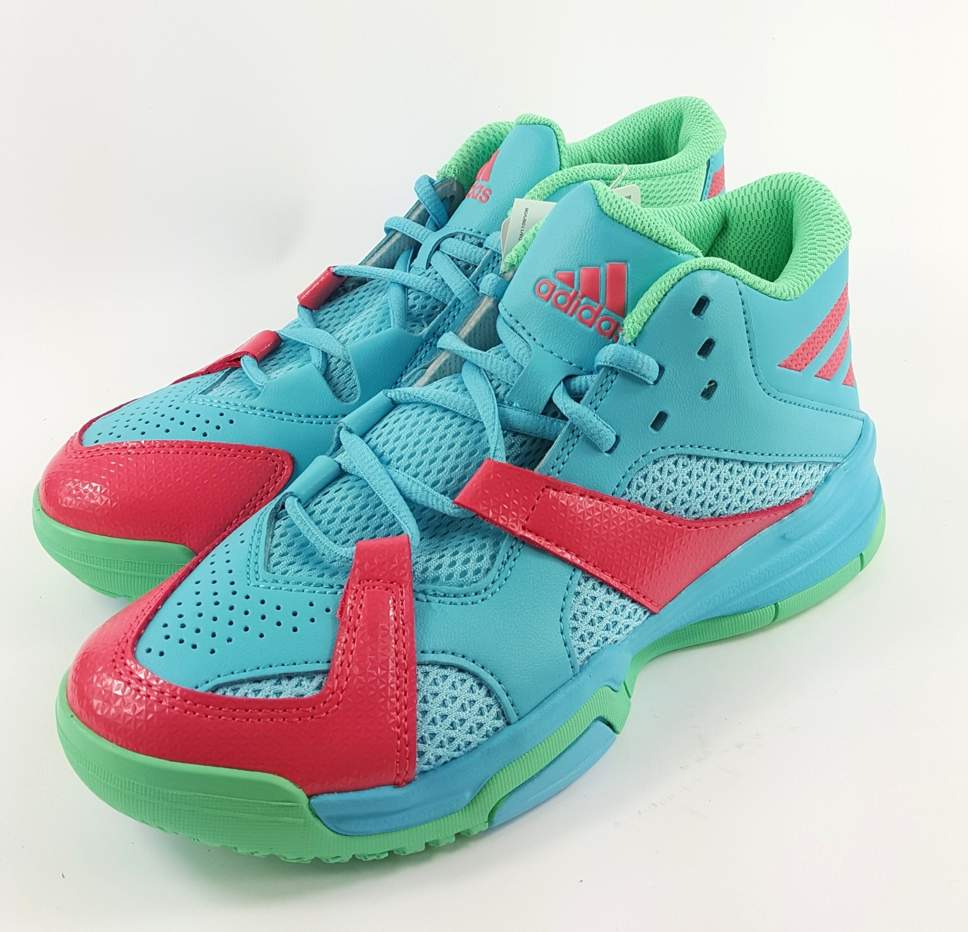 ADIDAS FIRST STEP K中筒兒童籃球鞋7 1童鞋7185水色