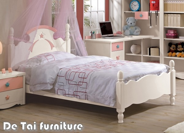 德泰傢俱工廠貝妮斯3.5尺雙層床-單層粉紅單人床架兒童家具免運費