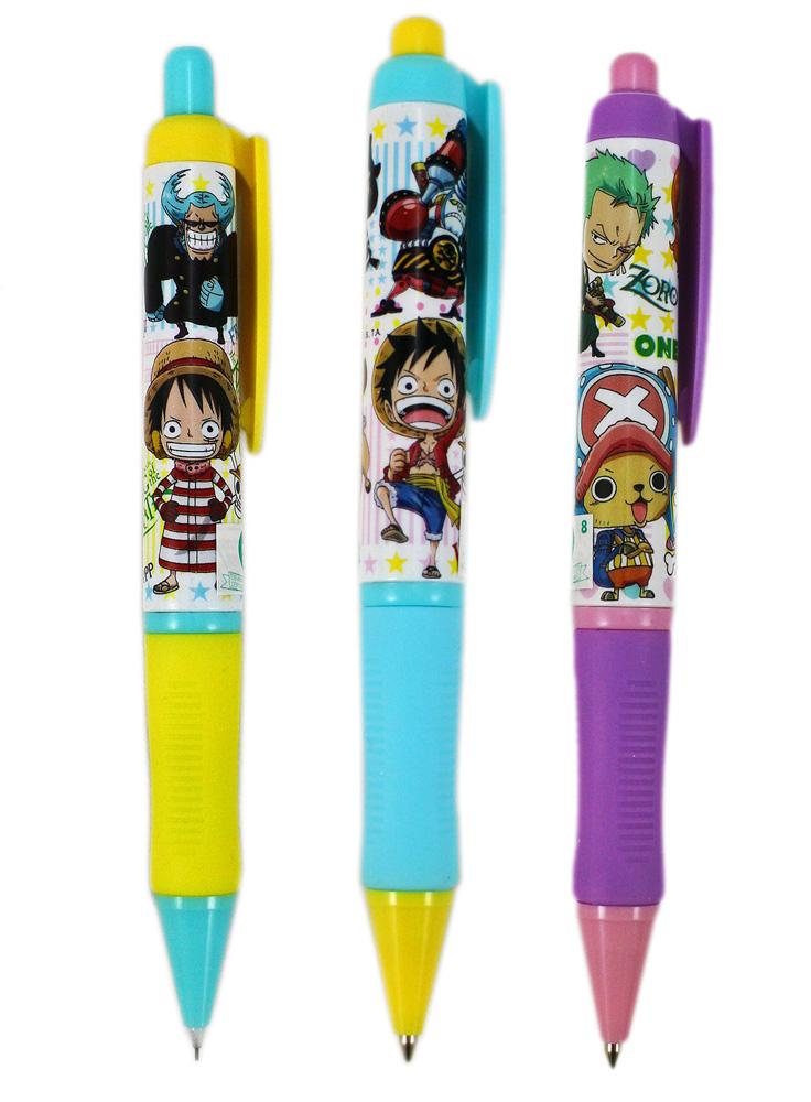 卡漫城One Piece自動鉛筆原子筆三支組版海賊王航海王喬巴娜美魯夫香吉士台灣製