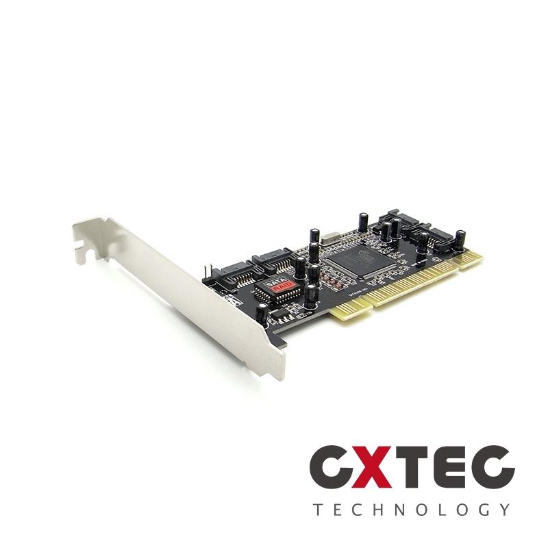 PCI to 4 Port SATA 2.0磁碟陣列卡RAID 0 1 5擴充卡SIL3114 HRC-PS1