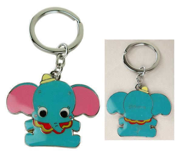 卡漫城小飛象鑰匙圈金屬雙面Dumbo拉鍊環吊飾環包包掛飾