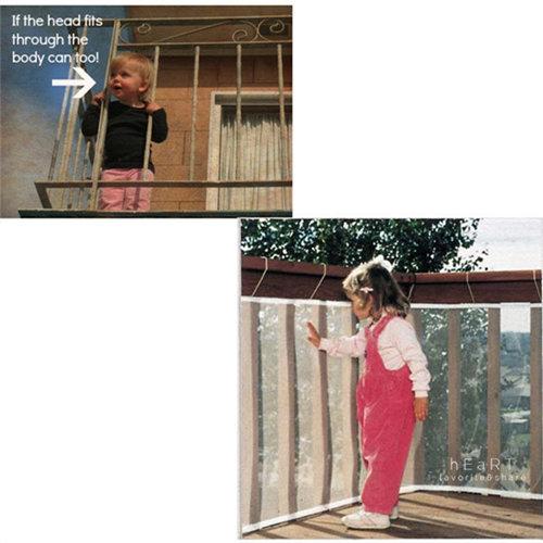 兒童陽台防護安全網300x74cm防護網兒童安全居家安全陽台防摔落