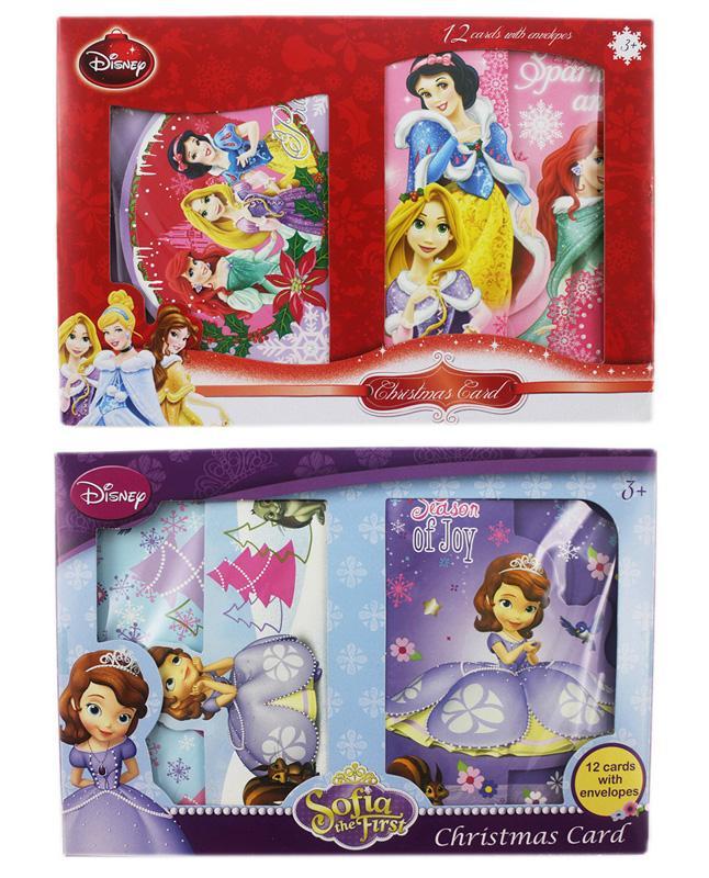 卡漫城公主聖誕節卡片2選1版聖誕卡耶誕卡蘇菲亞美人魚白雪睡美人灰姑娘長髮