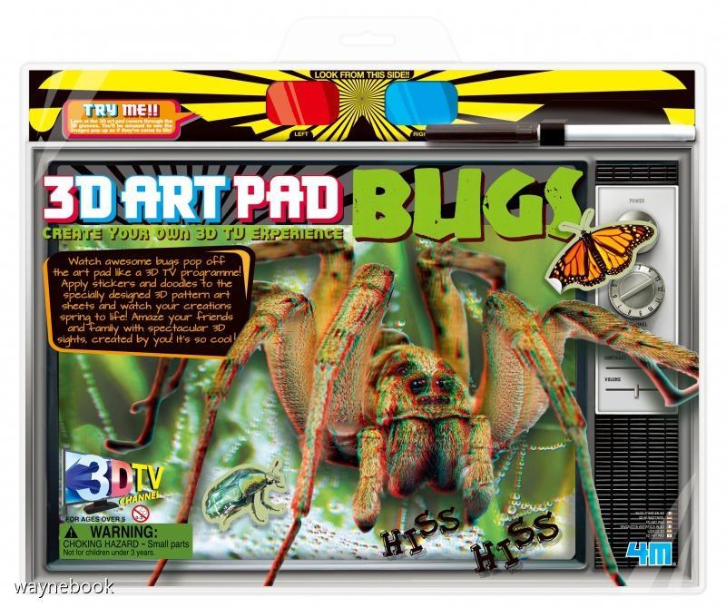 3D昆蟲藝術畫版3D Art Pad Bugs