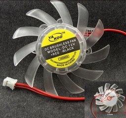新竹超人3C送3M背膠免螺絲固定6CM顯卡風扇2PIN 6公分散熱器顯示卡散熱風