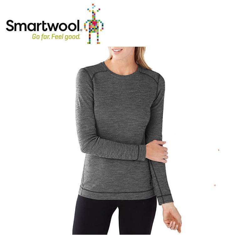 【美國 SmartWool 女NTS 250印花圓領長袖衫《黑》】SW0SS226/長袖衛生衣/登山健行/保暖圓領