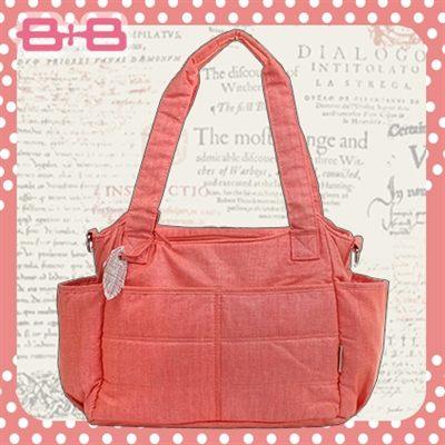 經典多用途媽媽包-橘尿布墊保溫袋多功能肩揹側背媽咪包HAPPY B B E-B-95146-O