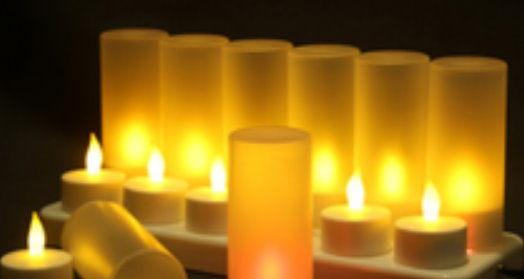 電子蠟燭燈(含燈罩)-黃光/個~~求婚用品 派對用品