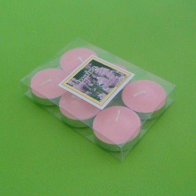 6入浮水蠟燭粉紅色