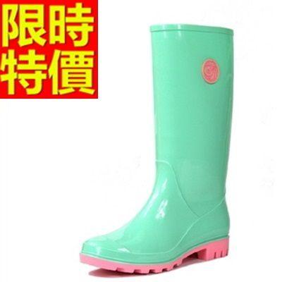 雨靴-女雨具防滑唯美防水女長筒雨鞋4色54k21[時尚巴黎]