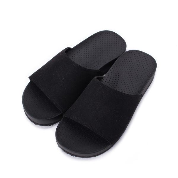 KANGOL 一片記憶拖鞋 黑 6851220120 男鞋 鞋全家福
