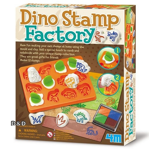 4M美勞創作恐龍印章創作Dino Stamp Factory JOYBUS玩具百貨